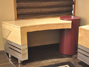 Maple and Nickel Console