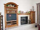 Entertainment Center and Mantel