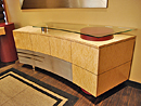 Maple and Nickel Credenza